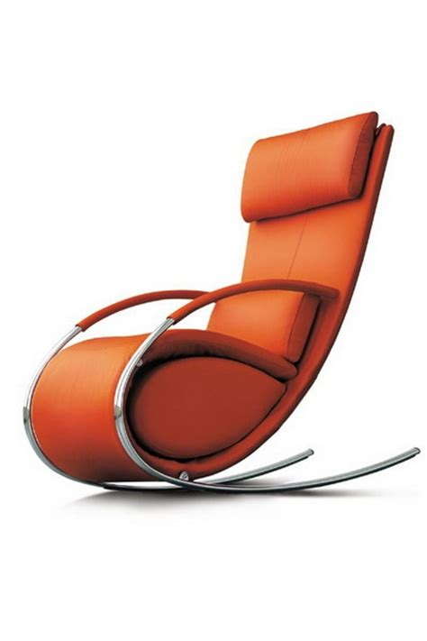 orange upholstered rocking chair 17 best images about orange leather on modern