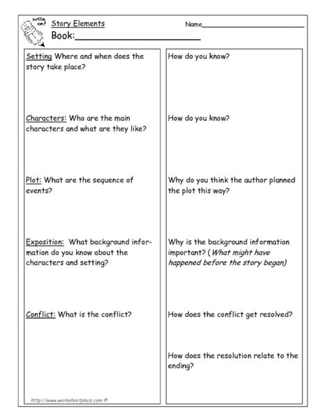 Elements Of Literature Worksheets by From Once Upon A Time To Denouement Collection Lesson Planet