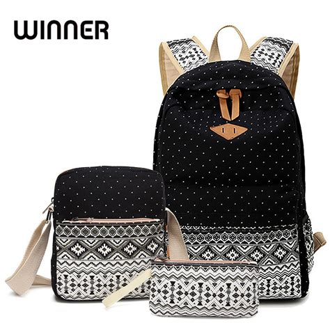 7 Fashionable Bags For School by Winner Stylish Canvas Printing Backpack School Bags