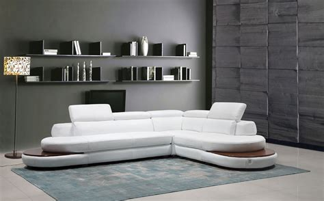 white italian leather sectional sofa divani casa killian modern white italian leather sectional