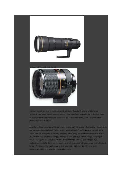 Lensa Cekung Dia 50mm F 500mm anatomi kamera slr