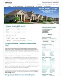 Orange County California Real Property Records Spizzio Launches Premium Search Engine For Orange County Property Search