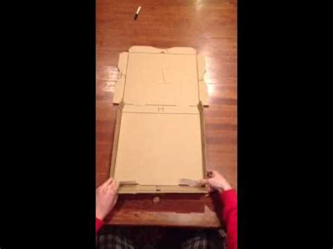 How To Make A Pizza Box Out Of Paper - pizza box with retracts doovi