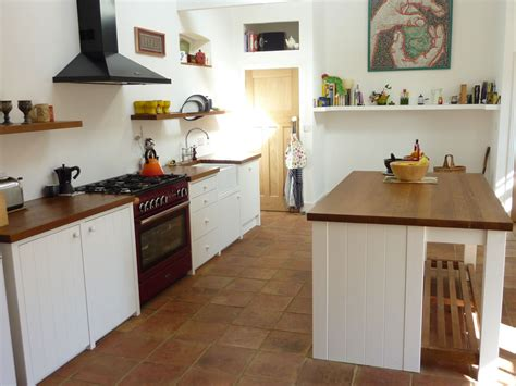 White Kitchen With Island Tongue And Groove Kitchen Handmade By Peter Henderson