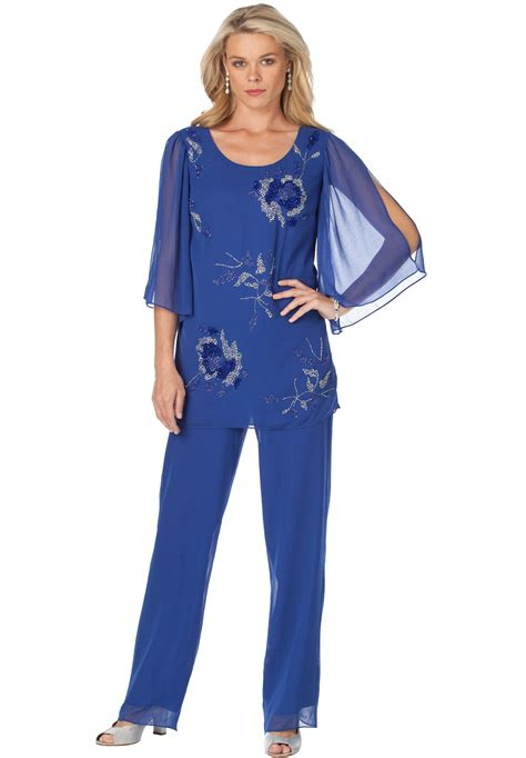 plus size dressy pant suits for weddings this plus size pantset possesses our most glamorous floral