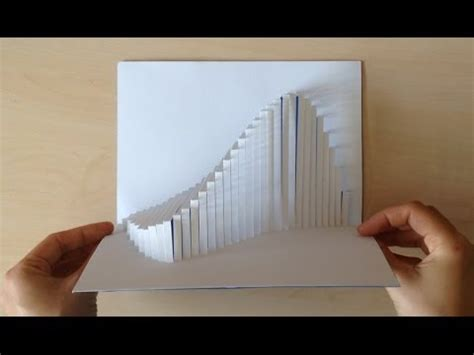 paper card wave template amazing wave pop up card tutorial