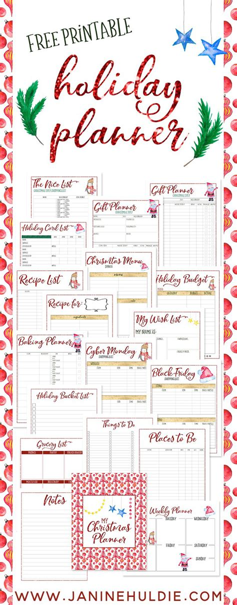 7 best images of free printable christmas planner pages free christmas planner printable available now coam