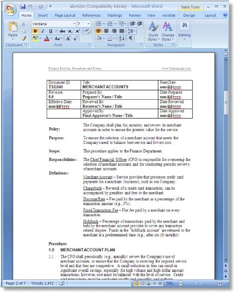 download free sle hr policy manual free