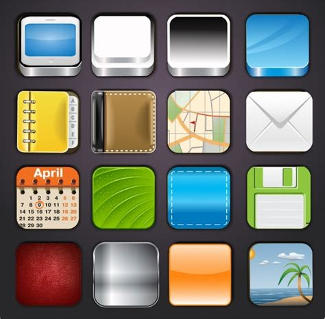 App Icons Templates Free Vector In Adobe Illustrator Ai Ai Encapsulated Postscript Eps App Icon Template Illustrator