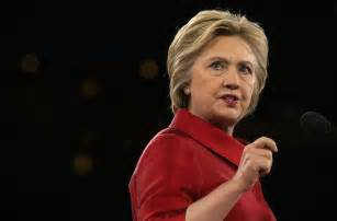 Hillary clinton addressing the annual policy conference of the