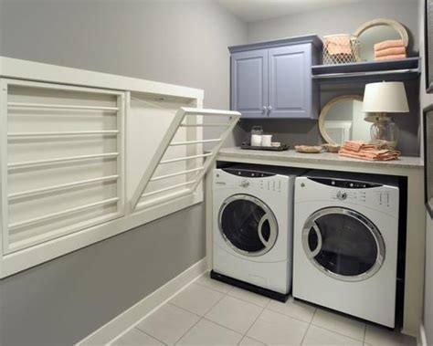 laundry room drying rack ideas space saving racks adding eco accents to laundry room design