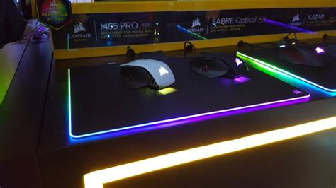 light up gaming mouse pad oh great now corsair has a 60 light up mousepad
