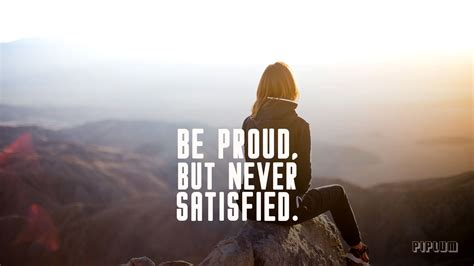 Proud Be be proud but never satisfied workout quote cover