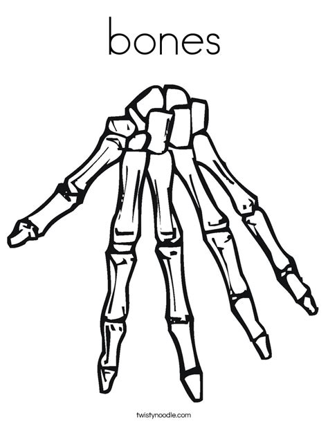 free coloring pages of bones bones coloring page twisty noodle