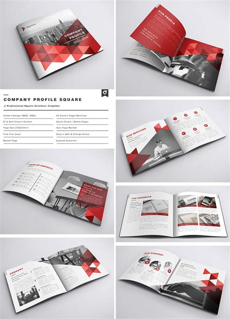 company profile layout pdf 20 best indesign brochure templates for creative