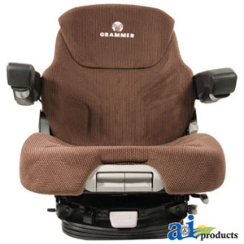 bolstered grammer suspension seat w isolator msg95741bnc grammer seat assembly brown matrix cloth