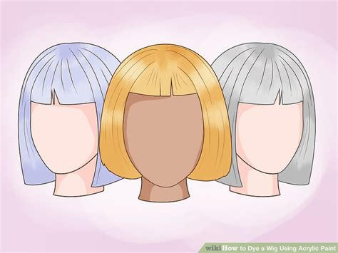 acrylic paint hair dye how to dye a wig using acrylic paint with pictures wikihow