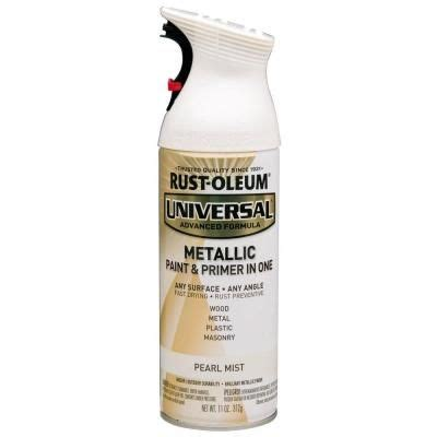 home depot paint and primer in one colors rust oleum universal 11 oz all surface metallic pearl