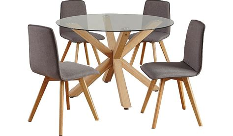 george home winston circular dining table and 4 chairs