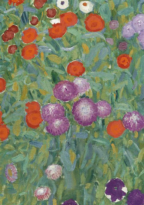 gustav klimt flower garden flower garden painting by gustav klimt