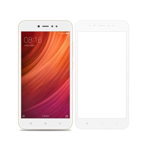 Redmi Note 5 A Tempered Glass Color White Cover redmi note 5a cover protection tempered glass screen