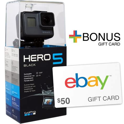 Gopro Gift Card - gopro hero5 black action camera 50 ebay gift card with purchase ebay