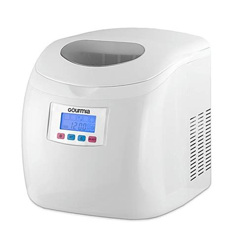 bed bath and beyond ice maker buy gourmia compact portable electric ice maker in white