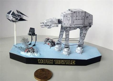 Wars Papercraft Models - wars all terrain armored transport at at walker
