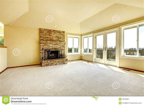 Living Room Background Images by Empty Living Room With A Fireplace Stock Photo Image