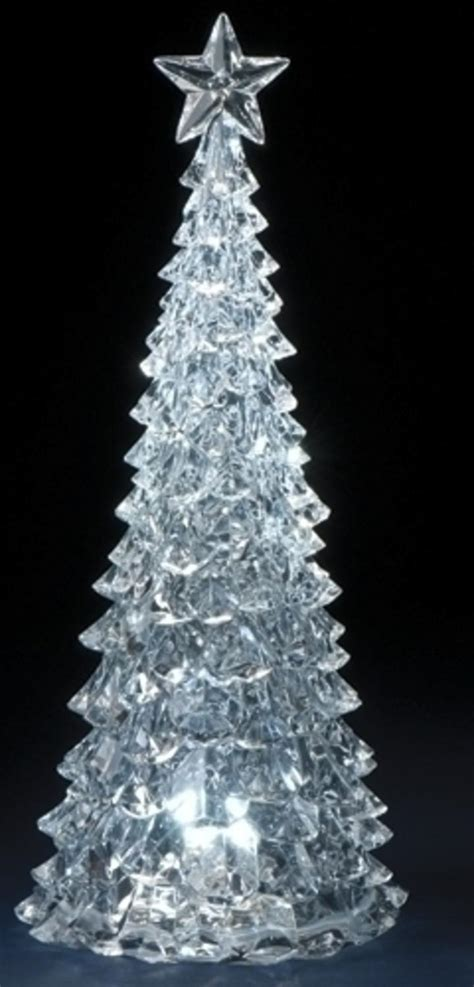 table top christmas tree in pleiglass with falling snow led tree tabletop decoration www indiepedia org
