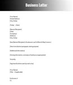 formal letter templates free word documents download