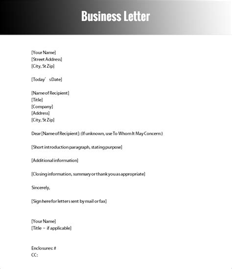 Business Letter Forms Of Address change of business address letter template formal letter