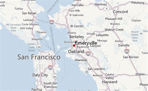 california map emeryville gu 237 a urbano de emeryville
