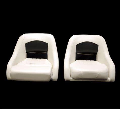 white boat seats tracker white black boat bolster seats set