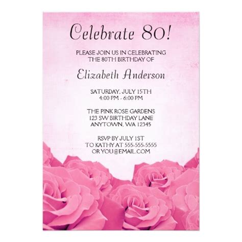 free invitations for 80th birthday free printable 80th birthday invitations free invitation