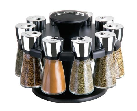 Herbs And Spices Holder Cole Herb And Spice Carousel Rack With 10 Glass