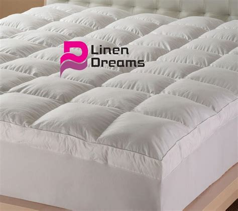 Mattress Topper Hotel Quality by King Size Luxury Pillowtop Mattress Topper Protector 5