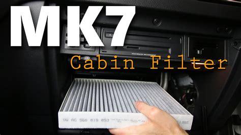 mk gti cabin pollen filter diy install youtube
