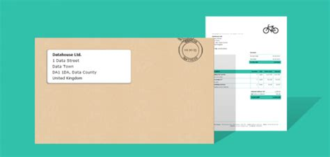 Your Invoice Template Where To Place The Customer Address Debitoor Invoice Template For Window Envelope