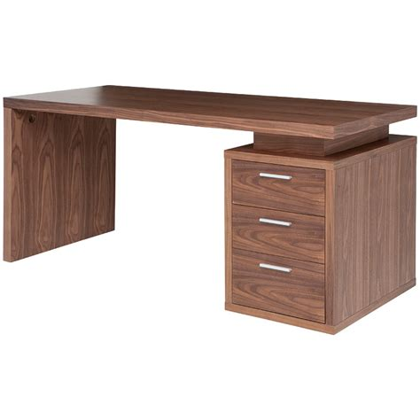Sleek Modern Desk Benjamin Modern Desk Walnut