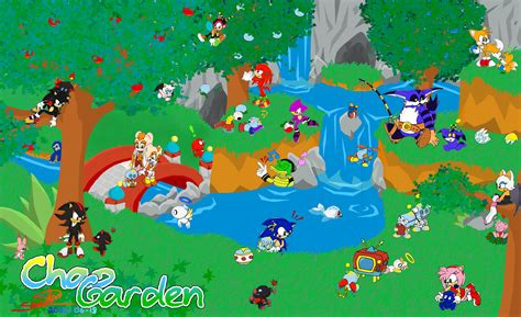 Sonic Chao Garden www sonicteam chao garden wallpaper sonic the hedgehog heroes team photo 33568544 fanpop