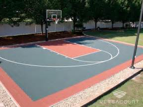 Basketball Half Court Dimensions Backyard by Gallery For Gt Backyard Basketball Court