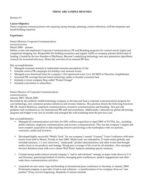 exles of resumes objective statement resume good