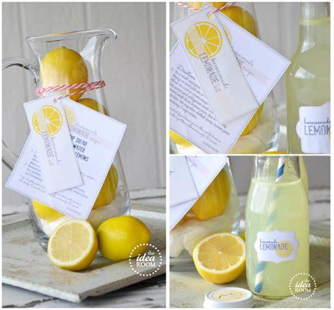 printable lemonade recipes homemade lemonade gift kit and printables the idea room