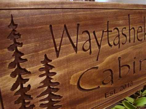 Rustic Cabin Signs rustic cabin welcome signs pine tree pine cone primitive wood