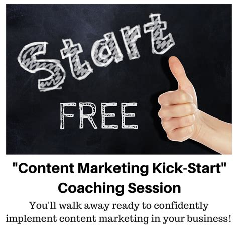power how to kick in business and books free content marketing kick start session how to get
