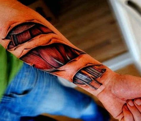 wrist rip tattoos 50 ripped skin designs for manly torn flesh ink