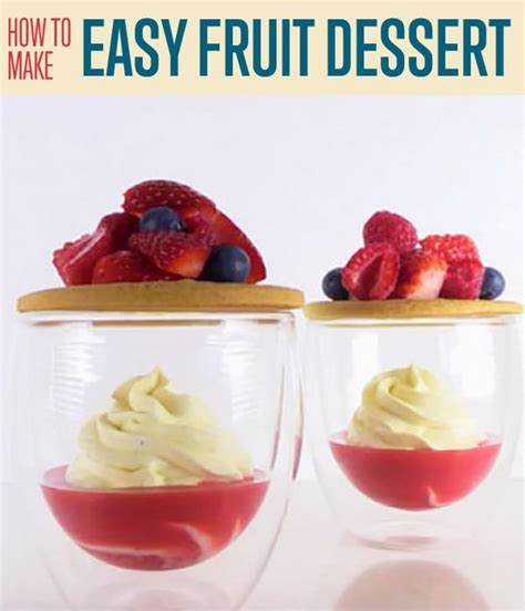 how to make an easy fruit dessert diy projects craft ideas