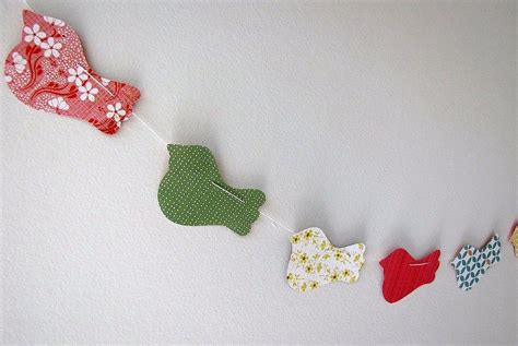 Paper Cutting Craft Ideas - patterned paper bird paper cut garland diy paper craft