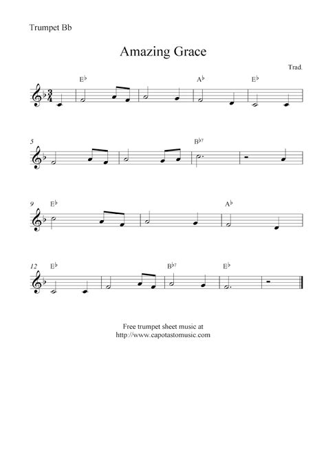 Amazing grace trumpet sheet music hd walls find wallpapers